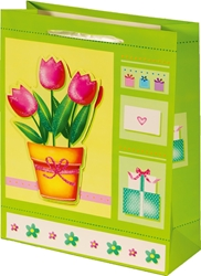 Picture of DECORATIVE BAGS flowers 3D glitter small 18x23x9 cm