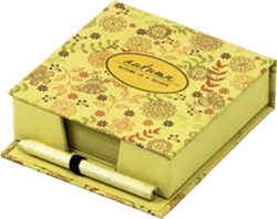 Picture of NATURE cube with flakes + pencil HB, 10,2x10,2x3,2 cm – 150 sheets