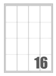Slika od SAMOLJEPLJIVE etikete Megastar 47x70 mm – 16 na listu