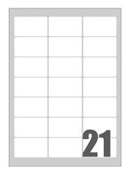 Slika od SAMOLJEPLJIVE etikete Megastar 63,5x38,1 mm – 21 na listu