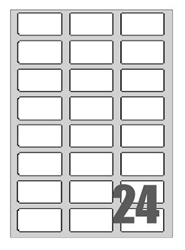 Picture of Self-adhesive labels Megastar 64x34 mm – 24 per sheet