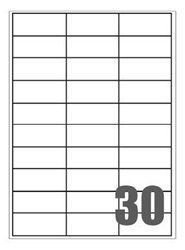 Slika od SAMOLJEPLJIVE etikete Megastar 70x29,7 mm – 30 na listu