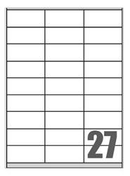 Slika od SAMOLJEPLJIVE etikete Megastar 70x32 mm – 27 na listu
