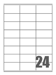 Slika od SAMOLJEPLJIVE etikete Megastar 70x36 mm – 24 na listu