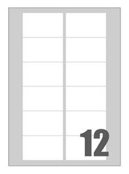 Slika od SAMOLJEPLJIVE etikete Megastar 76x46 mm – 12 na listu