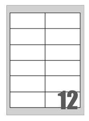 Slika od SAMOLJEPLJIVE etikete Megastar 97x42,3 mm – 12 na listu