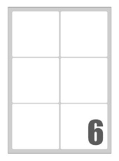 Slika SAMOLEPILNE ETIKETE MEGASTAR 99,1X93,1 MM-6 NA LISTU