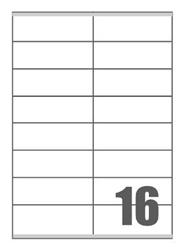 Slika od SAMOLJEPLJIVE etikete Megastar 105x36 mm – 16 na listu