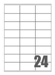 Slika od SAMOLJEPLJIVE etikete fluorescentne 70x36 mm - 24 na listu