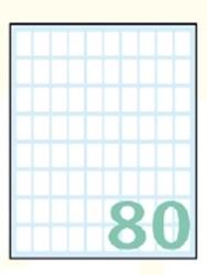 Slika od SAMOLJEPLJIVE etikete Export 16x10 mm – 10 listova, 80 na listu