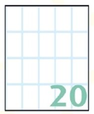 Slika SAMOLEPILNE ETIKETE EXPORT 36X22 MM-10 LISTOV, 20 NA LISTU