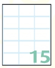 Slika SAMOLEPILNE ETIKETE EXPORT 38X25 MM-10 LISTOV, 15 NA LISTU