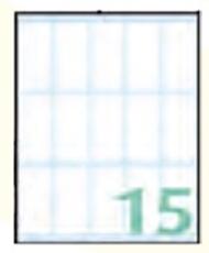Slika SAMOLEPILNE ETIKETE EXPORT 46X22 MM-10 LISTOV, 15 NA LISTU