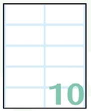 Slika od EXPORT samoljepljive etikete 58x28