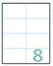 Slika SAMOLEPILNE ETIKETE EXPORT 58X36 MM-10 LISTOV, 8 NA LISTU