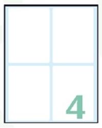 Slika od SAMOLJEPLJIVE etikete Export 75x56 mm – 10 listova, 4 na listu