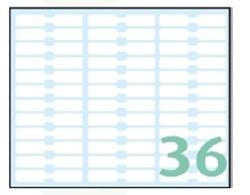 Slika od SAMOLJEPLJIVE etikete Export 48x8 mm – 10 listova, 36 na listu