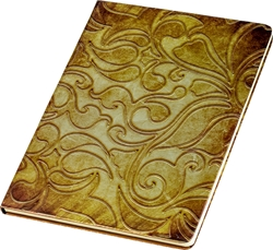 Picture of NOTEBOOK A4 line paper – hardcover – 3D effect – metalic