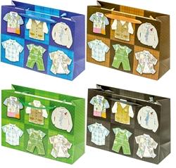 Picture of DECORATIVE BAGS cool boy 3D glitter medium 36, 1x26,2X12,3 CM