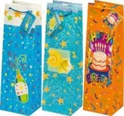 Picture of DECORATIVE BAGS for a bottle of 9,8x32,8 x 8,9 cm