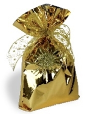 Picture of GOLD CELLOPHANE BAG 15x25 CM - 1/100