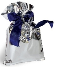 Picture of SILVER CELLOPHANE BAG 25x40 CM - 1/50