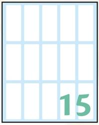 Slika od WHITE samoljepljive etikete 48x20