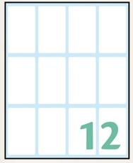 Slika od WHITE samoljepljive etikete 48x28