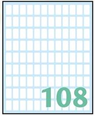 Slika od WHITE samoljepljive etikete 14x8