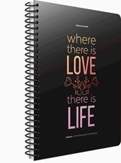 Picture of LIFE BOOK SPIRAL NOTEBOOK 19x26 SQUARED
