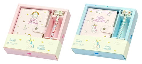 Picture of PLANNER WITH PEN + DECO TAPE LITTLE UNICORN