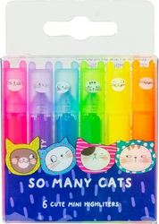 Slika od M&G SO MANY CATS MINI FLUO MARKER NEON 1/6