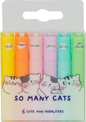 Slika od M&G SO MANY CATS MINI FLUO MARKER PASTEL 1/6