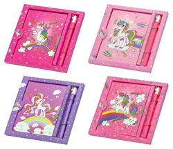 Picture of UNICORN MEMORIES NOTEBOOK WITH LOCK AND PEN