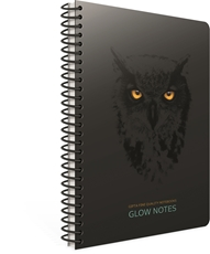 Picture of GLOW NOTES SPIRAL NOTEBOOK A4 SQUARED