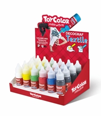 Picture of TOY COLOR textile decograf 25 ml - stand 30 pcs