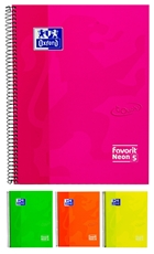 Picture of OXFORD NEON 5 SPIRAL NOTEBOOK SQUARED