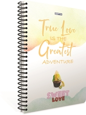 Picture of SWEET LOVE SPIRAL NOTEBOOK A4 SQUARED